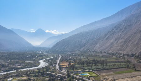 Lunahuana panoramic aerial view beautiful peruvian 写真素材 - 132050350
