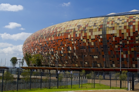 JOHANNESBURG - MARCH 10  The National Stadium stands outside Soweto on March 10, 2013