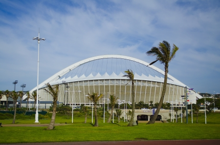 stadium  durban: DURBAN, SOUTH AFRICA - MARCH 2013: Moses Mabhida stadium glimmers on March 13, 2013 on Durban