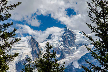 View of Mont Blanc from the valley photo
