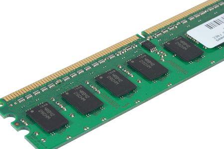 ordinateur: Detail view of a 512 MB RAM chip