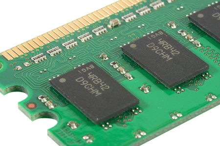 tera: Detail view of a 512 MB RAM chip