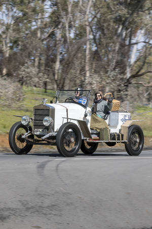 Adelaide, Australia - September 25, 2016: Vintage 1922 Essex 4 Cyl Tourer Rally Racer driving on country roads near the town of Birdwood, South Australia.