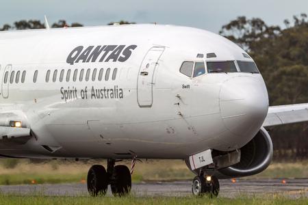 Melbourne, Australia - November 10, 2011: Qantas Boeing 737-476 VH-TJL at  Melbourne International Airport.