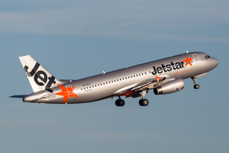 Sydney, Australia - May 5, 2014: Jetstar Airways Airbus A320 airliner taking off from Sydney Airport. Editorial