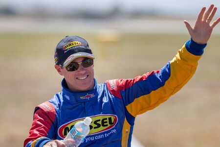 Avalon, Australia - March 2, 2013: Red Bull Air Race Pilot Matt Hall.