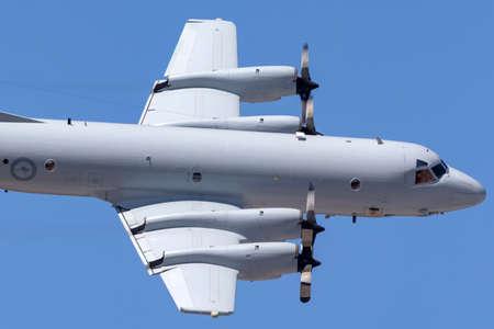 RAAF Williams, Point Cook, Australia - February 28, 2014: Royal Australian Air Force (RAAF) Lockheed AP-3C Orion Maritime Patrol and Anti Submarine Warfare Aircraft A9-756. Editorial