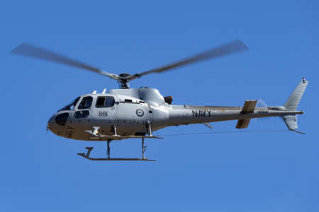 Tyabb, Australia - March 9, 2014: Royal Australian Navy Aerospatiale AS-350B Helicopter N22-014. Éditoriale