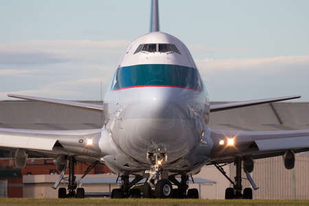 Melbourne, Australia - June 23, 2015: Cathay Pacific Cargo Airways Boeing 747-8 Cargo Aircraft B-LJM preparing for takeoff from Melbourne International Airport.