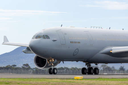 Avalon, Australia - February 27, 2015: Royal Australian Air Force (RAAF) Airbus KC-30A Multi Role Tanker Transport Aircraft from RAAF Amberley. Éditoriale