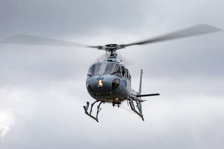 Avalon, Australia - February 26, 2015: Royal Australian Navy Aerospatiale AS-350B Helicopter from HMAS Albartoss.