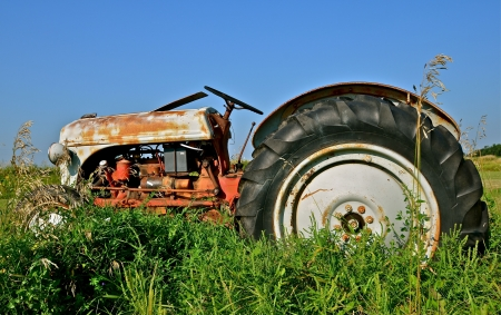 Old Tractor Retires in the Weeds