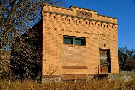 rural town: An old bank in a small rural town has closed it s doors