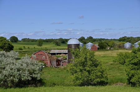remains: Crumbled barn remains Editorial