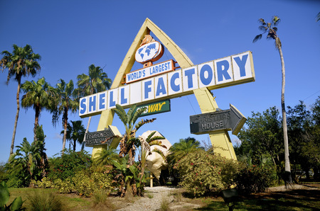 myers: NORTH FORT MYERS, FLORIDA, March 2, 2015: The Shell Factory and Nature Park of North Fort Myers, Florida, is an 18 acre attraction where 1,000