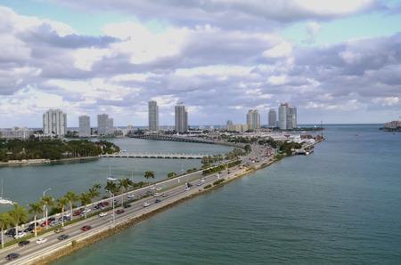 passageway: Waterway inlet, highway, and ship passageway in Fort Lauderdale, Florida.
