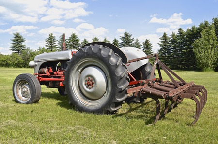 STERLING, NORTH DAKOTA, August 10, 2014: The Ford N-Series tractors are a series of farm tractors that were produced by Ford between 1939 and 1952, spanning the 9N, 2N, and 8N models