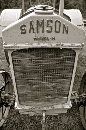 the existing: ROLLAG, MINNESOTA-September 3, 2015: The Samson tractor company was purchased by GM in 1916 , existing until 1923 with the Model M as the featured tractor.