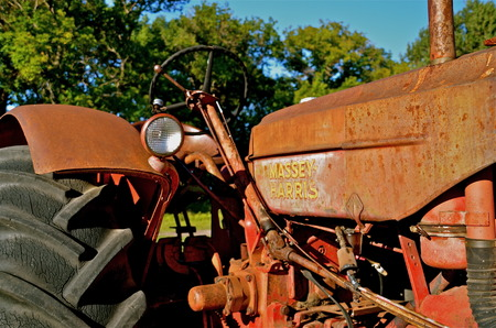 occurred: DOWNER, MINNESOTA, August 31, 2013: The Massey Fergus tractor name disappeared when a merger of Massey Harris and the Ferguson Company farm machinery manufacturer occurred in 1953DOWNER, MINNESOTA, August 31, 2013: The Massey Fergus tractor name disappear Editorial