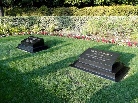 grave site: The grave site of President Richard Nixon and Patricia in Yorba Linda, California.