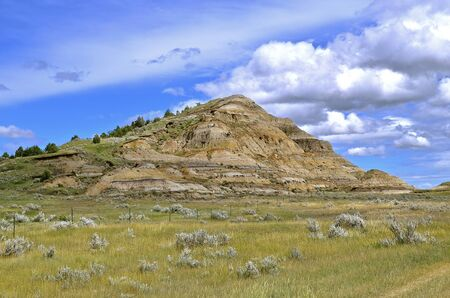 theodore roosevelt: A butte of the North Dakota Badlands, the North Unit of Theodore Roosevelt Park