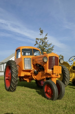 rt: ROLLAG, MINNESOTA, Sept 1, 2016: A Minneapolis Moline cabbed RT tractor is parked at the West Central Steam Threshers Reunion(WCSTR) where 1000s attend each Labor Day weekend in Rollag, MN each year.