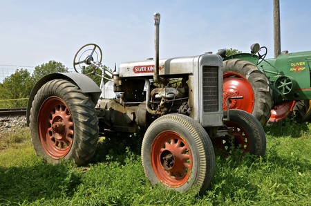 ROLLAG, MINNESOTA, Sept 1. 2016: A Silver King tractor(originally called a Plymouth) is displayed at the West Central Steam Threshers Reunion in Rollag, MN attended by 1000s held annually on Labor Day weekend. Editorial