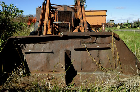 BARNESVILLE, NORTH DAKOTA-September 14, 2014: The Case Corporation was a manufacturer of construction equipment and agricultural equipment, founded by Jerome I. Case, it existed for over 150 years.