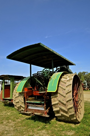 ROLLAG, MINNESOTA, Sept 1. 2016: A restored Gear Scott steam engine is displayed  at the West Central Steam Threshers Reunion in Rollag, MN attended by 1000s held annually on Labor Day weekend.