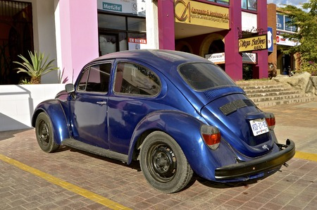 MAZATLAN, MEXICO, January, 30, 2017: The 1960s old VW car is a product of Volkswagen Group, one of the worlds largest car industries in the world founded in Berlin in 1937. Editorial