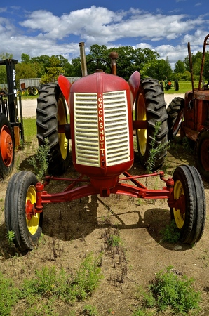 DETROIT LAKES, August 4, 2016: The red Cockshutt was a product of Cockshutt Farm Equipment Limited (1957�1962), based in Brantford, Ontario, Canada.