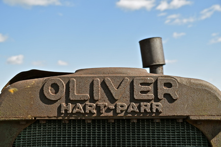 MINNESOTA, September 14, 2014: The old Parr grill comes from Hart-Parr Tractor Company which began operations in 1897 and sold out to Oliver Tractor company in 1929