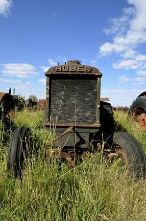 BARNESVILLE, MINNESOTA, June 15, 2016:  The Huber tractor was produced from 1892-1942 by the Huber Manufacturing Company of Marion, Ohio. Editorial