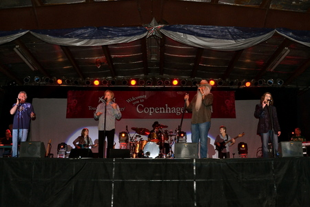 MINOT, NORTH DAKOTA, October 3, 203: The Oak Ridge Boys are performing at Hostfest, a Scandinavian celebration occurring the annually the first weekend of October.