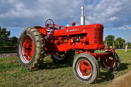 ROLLAG, MINNESOTA, Sept 3, 2017:  The Farmall H tractor is displayed at the annual WCSTR farm show in Rollag held each labor Day weekend.