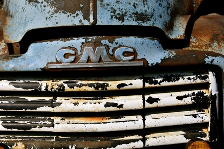HAWLEY, MINNESOTA, August 22, 2017: The old pickup from the 40`s or 50`s, is a Chevrolet or GMC, colloquially referred to as Chevy and formally the Chevrolet Division of General Motors Company, is an  報道画像