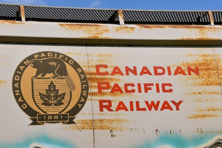 ENDERLIN, NORTH DAKOTA, August 21, 2018: The Canadian Pacific Railway, also known formerly as CP Rail between 1968 and 1996, is a historic Canadian Class I railroad incorporated in 1881.