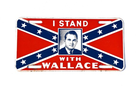 MOORHEAD, MINNESOTA, February 13, 2019: The commemorative license plate honors George Wallace  Jr, an American politician and the 45th Governor of Alabama who  also ran for President  three times. Redactioneel