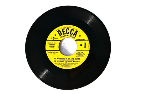 MOORHEAD, MINNESOTA, March 6, 2019: The 45 rpm disc is Editorial