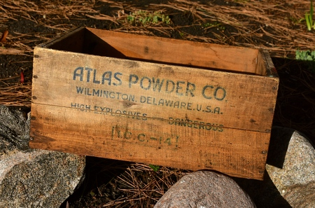MOORHEAD, MINNESOTA, May 7,  2109:  The old dynamite box was a product of Atlas Powder Ci, Inc, in 1912 which functioned as an independent explosives and chemicals company until 1971, when purchased by Imperial Chemical Industries Limited (U.K.