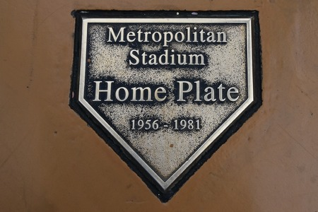 BLOOMINGTON, MINNESOTA, May 24, 2018. The Home Plate is  the exact location of the Minnesota Twins Metropolitan Stadium now located in the Mall of America opening in 1992. Editöryel