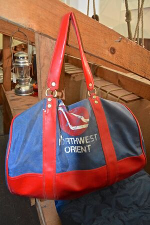 MOORHEAD, MINNESOTA, January 8, 2019:  The bag is a product of Northwest Orient airlines, then Northwest, and was absorbed into Delta airlines after a merger.