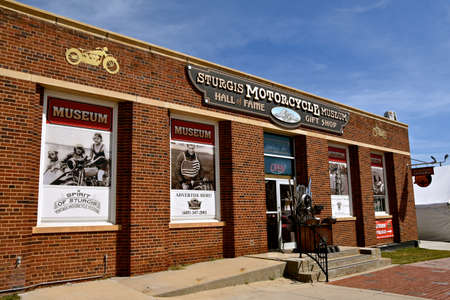 STURGIS, SOUTH DAKOTA, August 16, 2020: The Sturgis Hall of Fame Museum located downtown is a tourist attraction, featuring the annual Motorcycle Rally