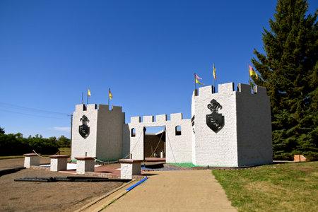 REGENT, NORTH DAKOTA, August 16, 2020:  The enchanted Castle of Regent is located at the end of the Enchanted Redakční