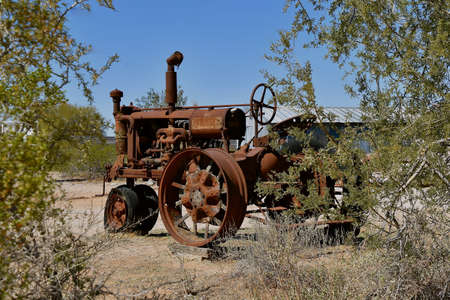 MARICOPA, ARIZONA, February 26, 2021:  The old F-12 tractor is a Farmall, a model name and later a brand name for tractors manufactured by the American company International Harvester (IH).