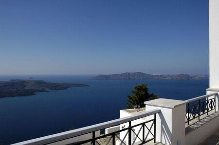 Balcony on the Island of Santorini, Greece