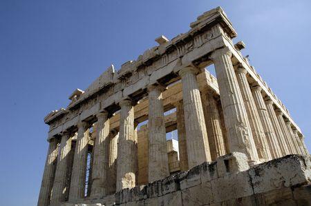 Parth�non de l'Acropole � Ath�nes, en Gr�ce