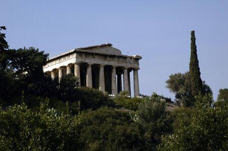 Ruines grec � Ath�nes, en Gr�ce