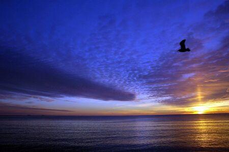 Hampton Beach, New Hampshire Sunrise Stock Photo