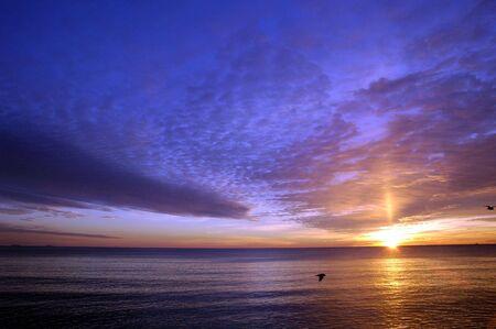 Hampton Beach, New Hampshire Sunrise  Banque d'images